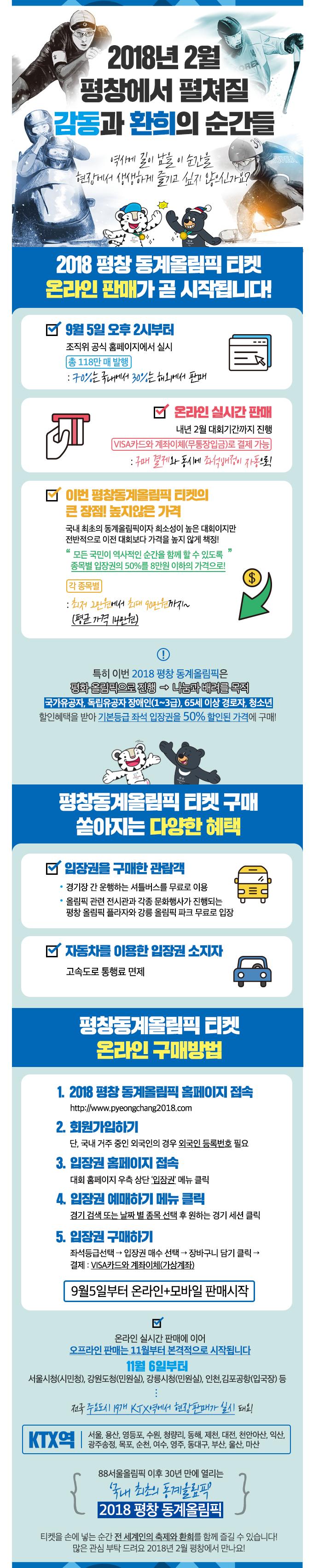 2018 평창 동계올림픽대회 온라인 입장권 판매